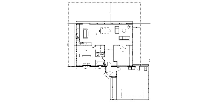 Floor plans for the house, where the onsite manager/chef will live and where the writers will gather for dinner each evening.