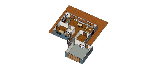 Not quite an exact representation of what the house will look like furnished. But close.