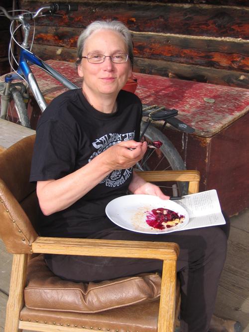 Nancy Lord at the Denali Residency.